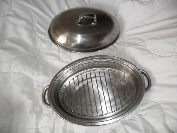 HORWOOD by Judge HO17 Stainless Steel covered roasting pan tin with lid and rack in Home, Furniture & DIY, Cookware, Dining & Bar, Bakeware & Ovenware   eBay