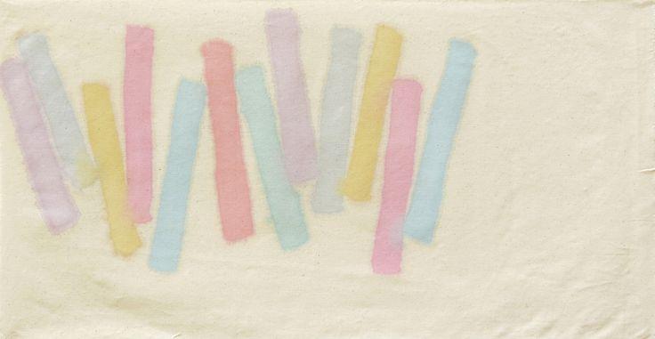 La Galleria 2000&Novecento augura a tutti una #Pasqua piena di gioia! #GiorgioGriffa, Senza Titolo, 1976, acrilico su tela, cm. 40,3x76.
