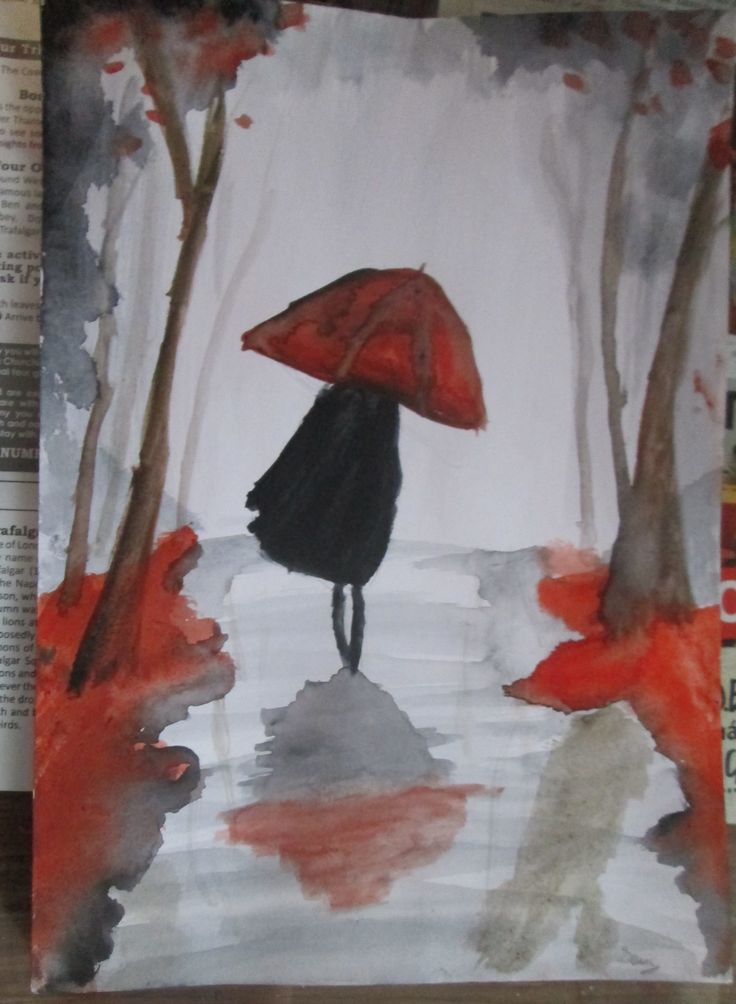 My first painting with aquarelle..