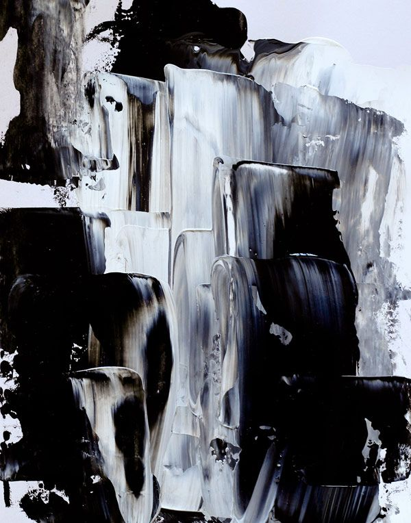 i love the simplicity of this painting. the horizontal lines, and shading remind me of waterfalls. it is very calming, and earthy.