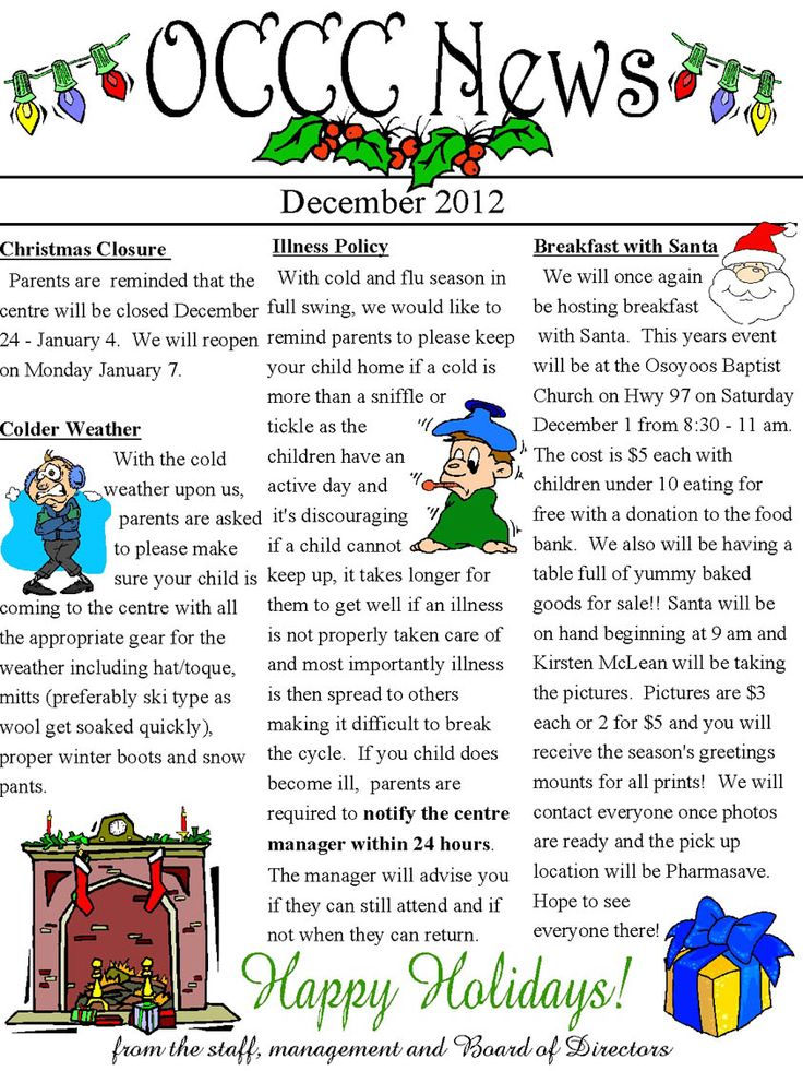 17 Best images about daycare newsletter on Pinterest | Newsletter ...