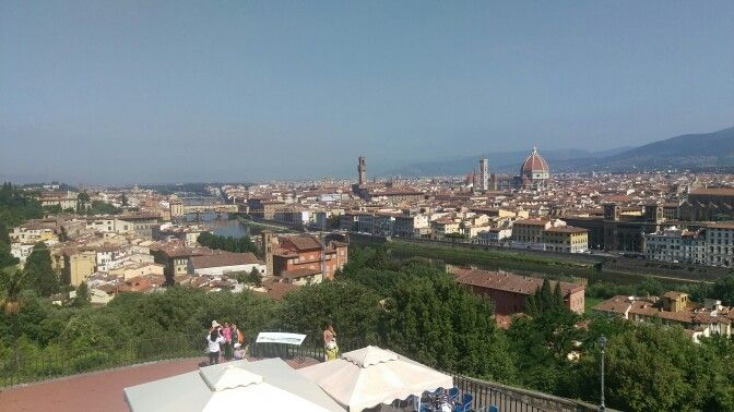 View over Florence Italy from Piazzale Michelangelo