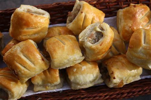 Sage & onion sausage rolls