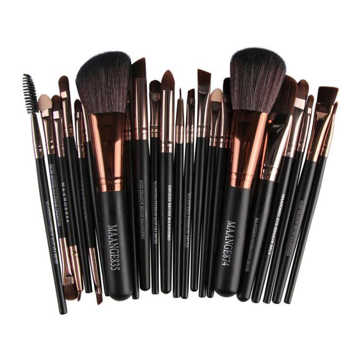 22 stks = 1 set Professionele up kwasten gereedschap set Make up Borstel gereedschap kits voor Oogschaduw Eyeliner Cosmetische Borstels