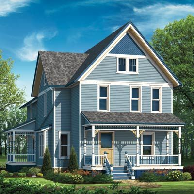 Photoshop Redo Punching Up A Proud Farmhouse Exterior Porch Columns And House Colors