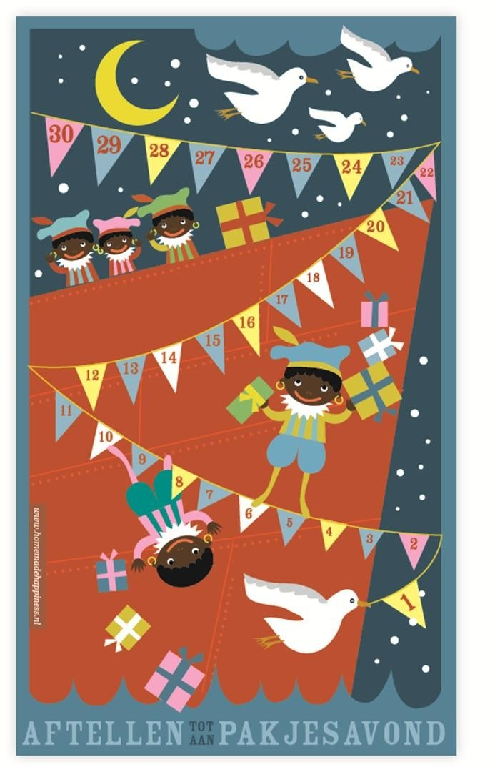 #Sinterklaas Aftelposter tot pakjesavond