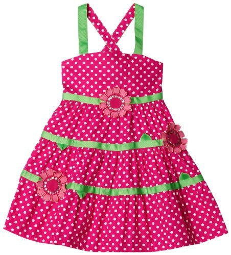 Bonnie Jean Girls 2-6x Fuschia With White Dots Flower Applique Sundress  Fuschia  5From #Bonnie Jean Price: $32.00 Availability: Usually ships in 24 hoursShips From #and sold by iPovePou Boutique