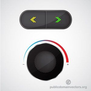 Audio volume button vector image