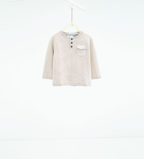 Image 1 of Basic button neck sweater from Zara