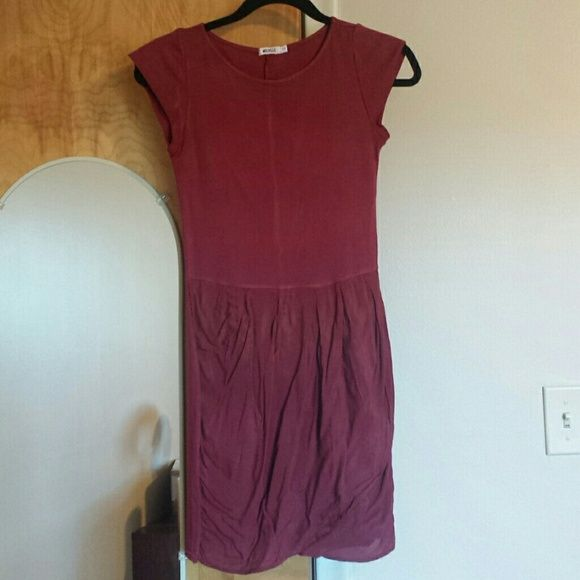 Brandy Melville burgundy dress SMALL Worn a couple of times, good condition, size small! I washed after I used it. Still the sign of the iron! Brandy Melville Dresses Mini
