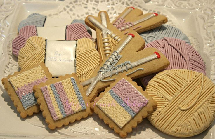 45 Best Knitting Cookies Images On Pinterest Decorated