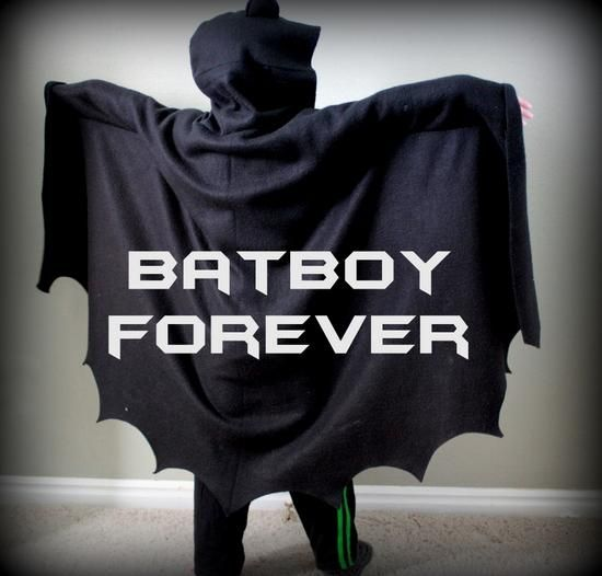 Cape needs to be shaped like this - bat wings!!