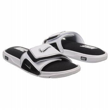 white slides shoes