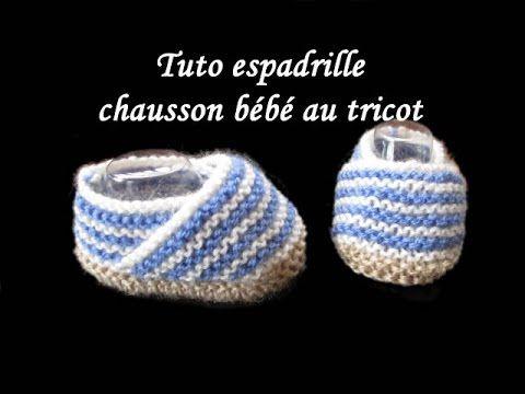 Les+tutos+de+Fadinou:+TUTO+ESPADRILLE+CHAUSSON+BEBE+AU+TRICOT+FACILE