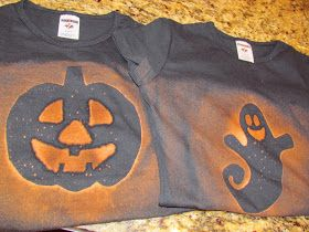from my nest to yours.....: Halloween bleach stencil shirt