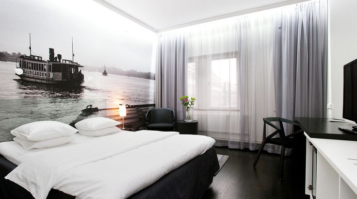 #white #bedroom #interior at Nordic Sea Hotel Stockholm