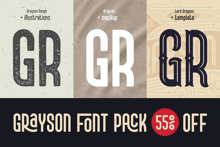 Download Grayson Font Pack. 55% OFF! in 2020   Font packs, Free ...