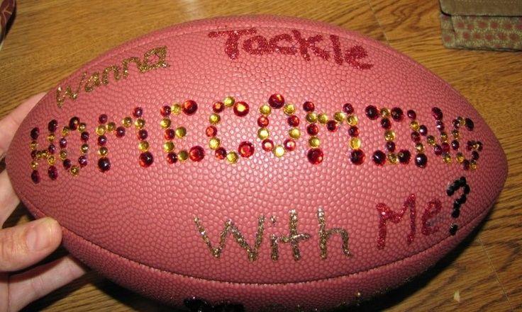 Football - Homcoming asking idea