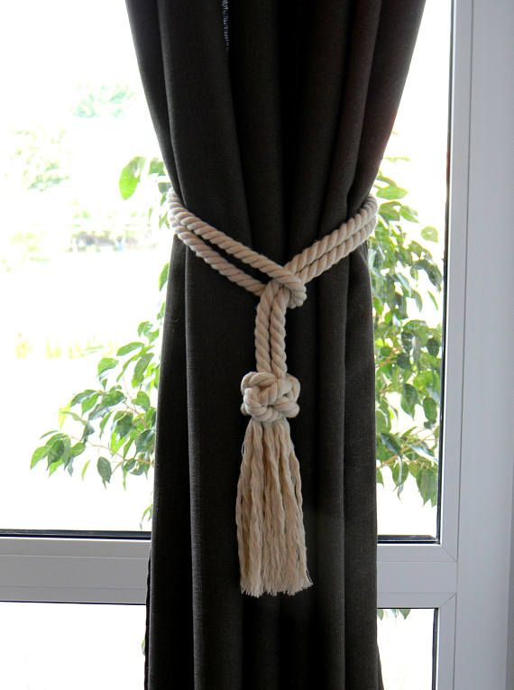 Diamond Knot Curtain Tie Backs Cotton