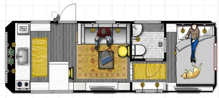 Great Airstream remodel layout