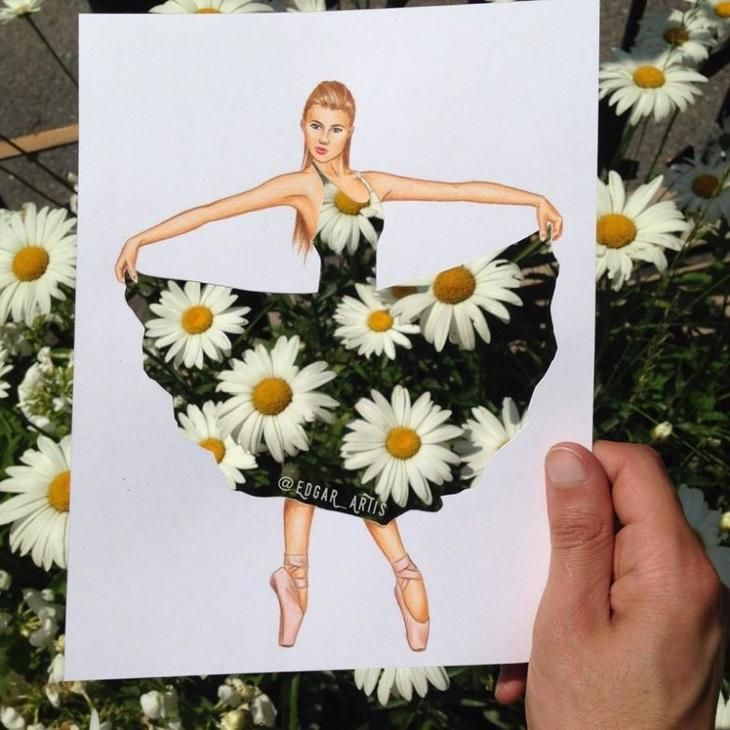 Потрясающие эскизы одежды из подручных средств