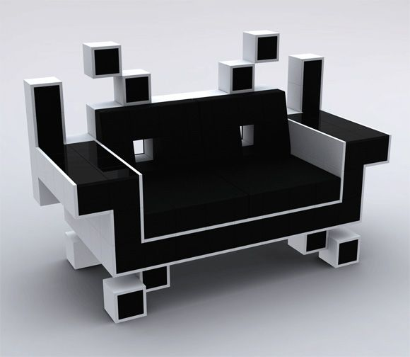 Perfect for Gamers: Space Invaders Couch - My Modern Metropolis