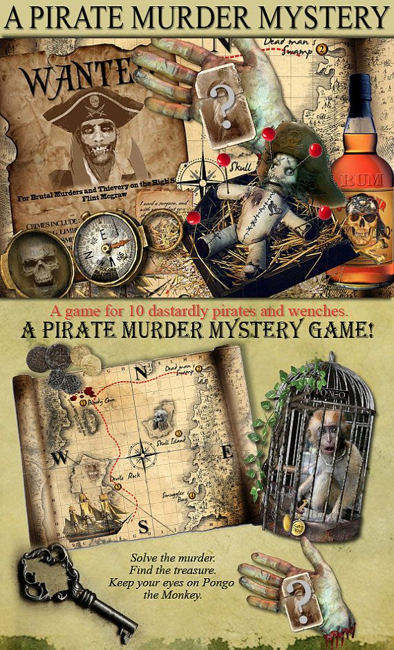 Pirate Murder Mystery party Game. . Download and print.
