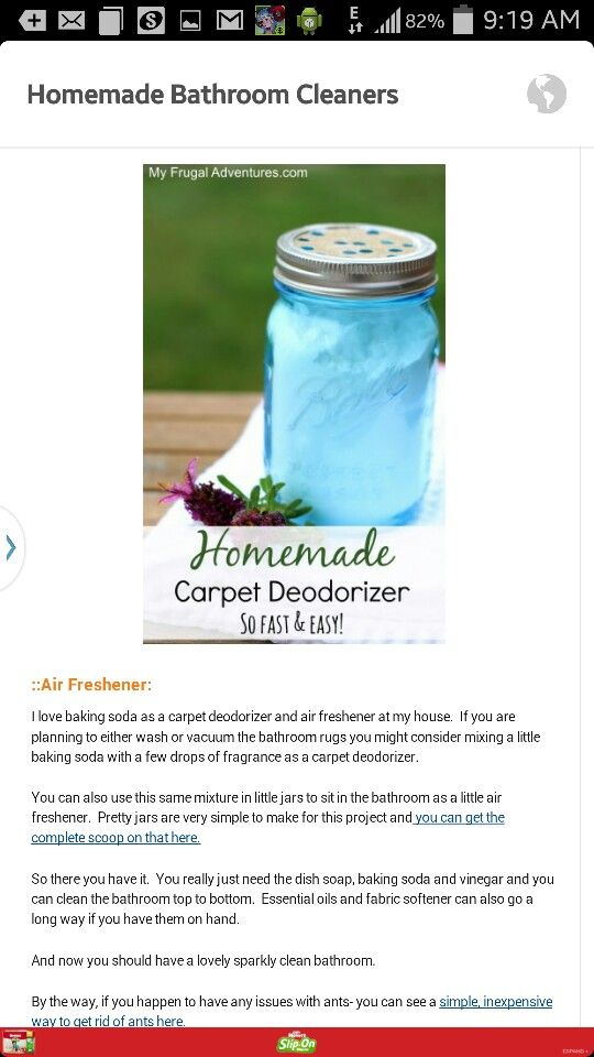 Carpet deodorizer and air freshener