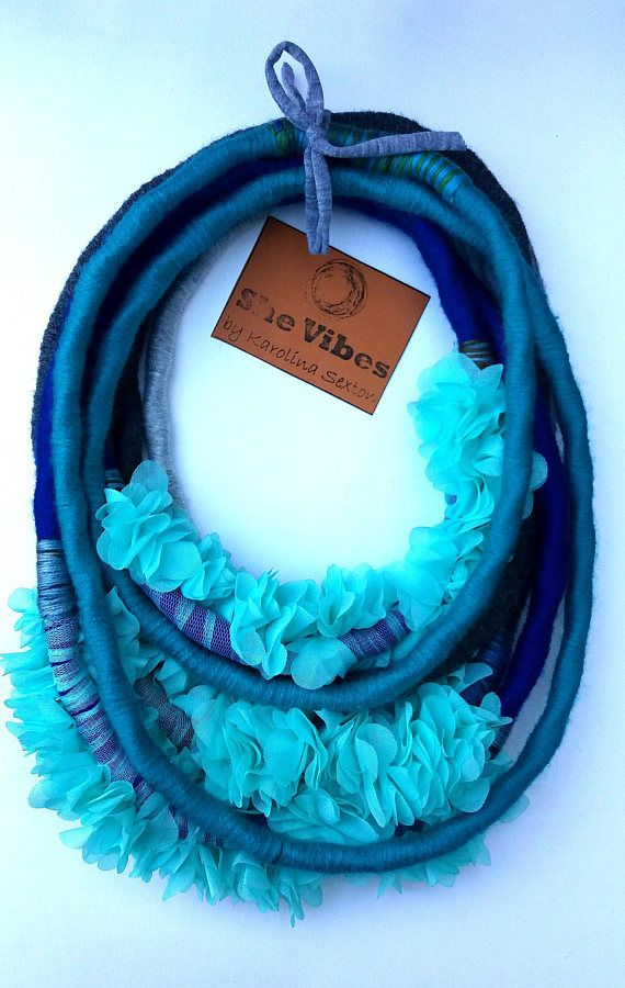 Unique/ Yarn Wrapped Necklace/ Woman/ StreetFashion/