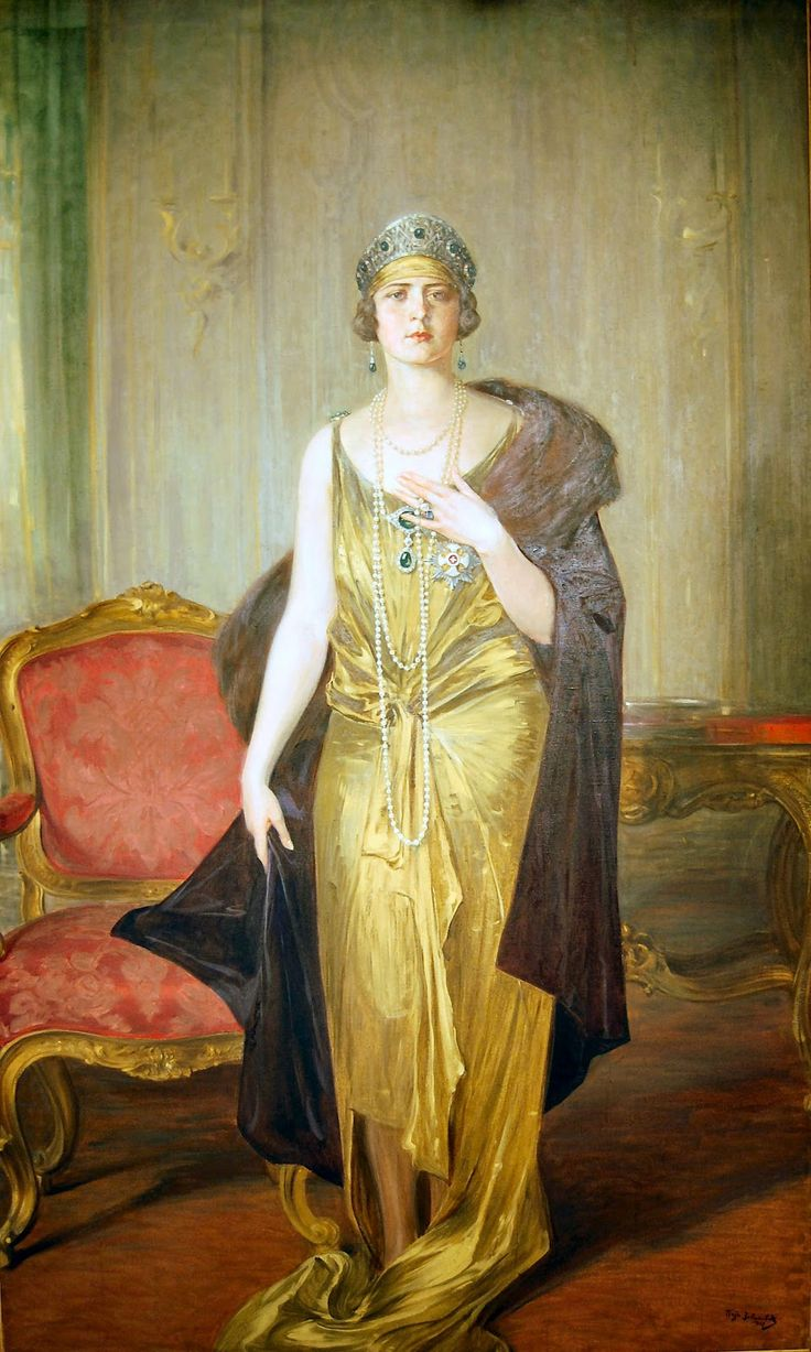 Queen Marie of Yugoslavia nee Pss Marie of Romania aka Mignon. By Paja Jovanovic