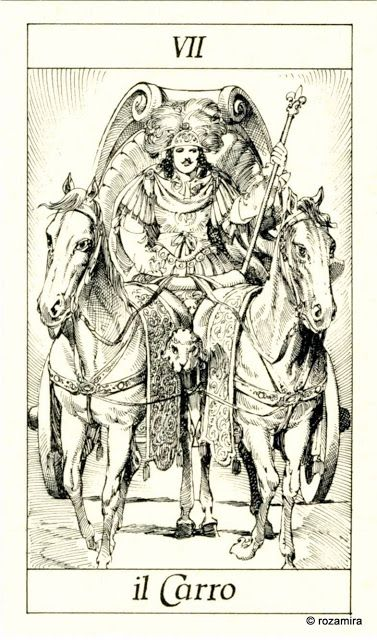 VII. The Chariot - Tarot of the 3 Musketeers ( I Tarocchi del re Sole) by  Paolo Piffarerio