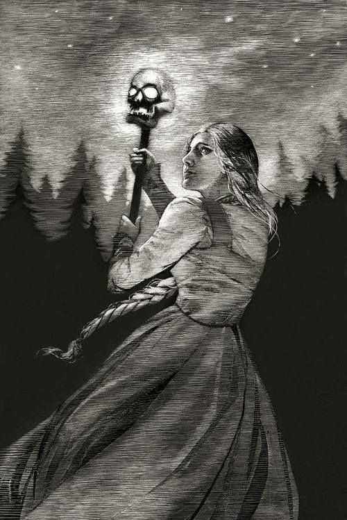 Vassilisa with Baba Jaga's Fire, by Kate Adams