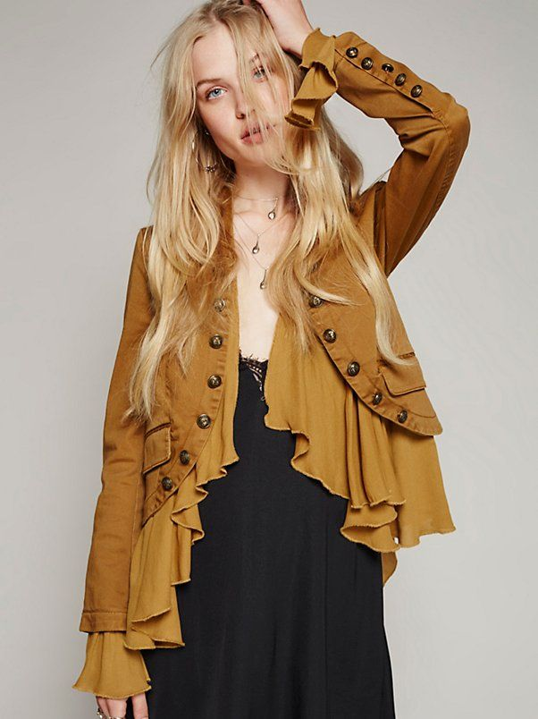 Romantic Ruffles Jacket at Free People Clothing Boutique