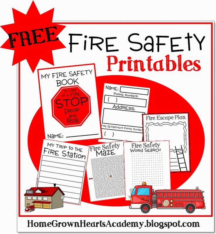 October is Fire Prevention Month and Home Grown Hearts Academy has a FREE Fire Safety printable pack