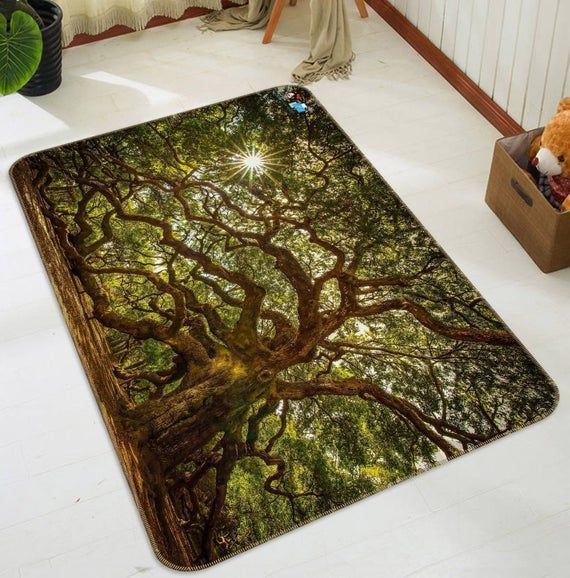 3d Green Trees Fff384 Floor Non Slip Rug Room Mat Round Quality Removable Kitchen Bath Floor Waterp Kitchen Tile Floor Bath Mat In 2020 Room Rugs Rugs Rugs On Carpet