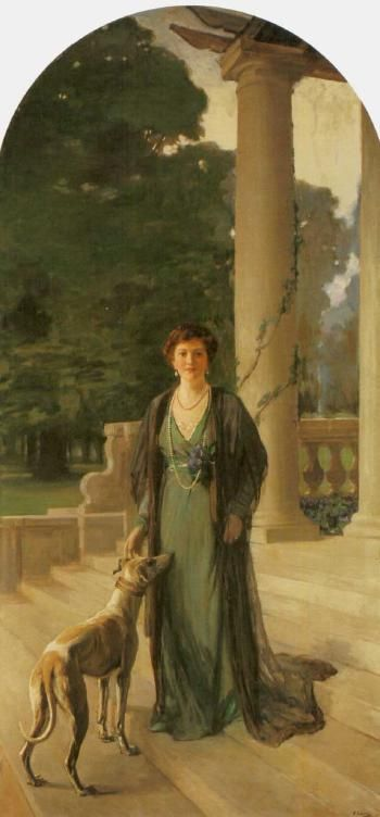 Portrait of Baroness Gerda von Chappuis, by Sir John Lavery (Irish, 1856-1941)