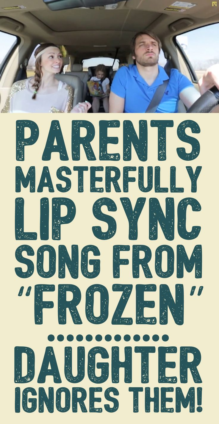 "Parents masterfully lip sync song from ""Frozen""... daughter ignores them!"