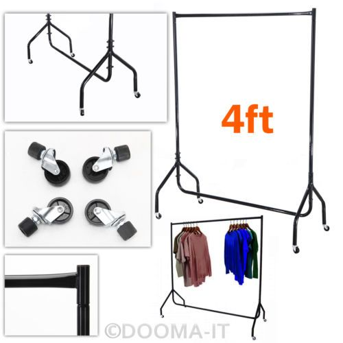 4-FT-Heavy-Duty-Clothes-Rail-Shop-Garment-Display-Dress-Stand-Rack-Hang-Metal-UK