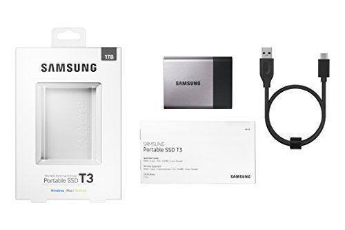 External SSD Samsung T3 USB 3.1 1 TB Portable External Solid State Drive