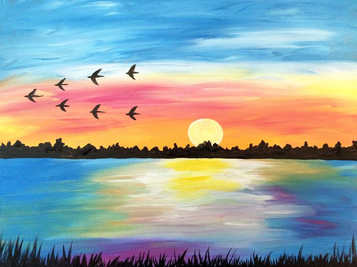 Sunset Painting Images