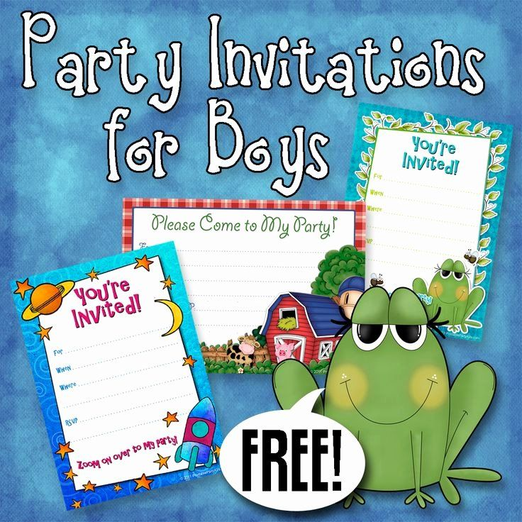 Free Printable Birthday Party Invitation For Boys Awesome Free