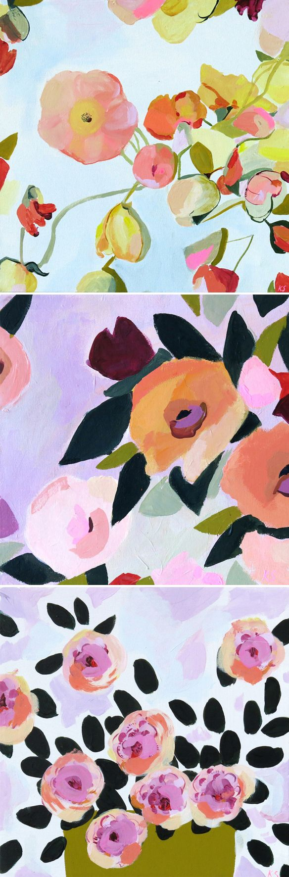 KT SMAIL paintings (avail on @buysomedamnart)