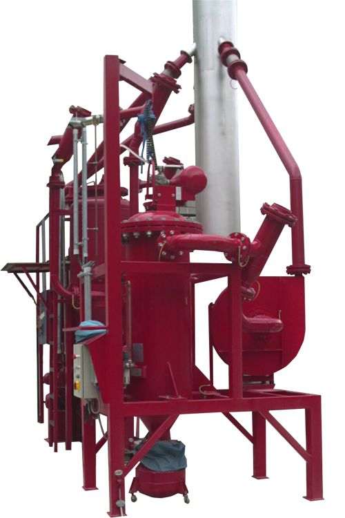 CARTRIDGE DUST COLLECTOR RX EX - The Cartridge Dust Collector RX EX model was developed for the classification of ATEX Zones 20, 21, and 22. The dust collector can be delivered with certificates and approvals for Zones 20, 21, and 22. It can also be delivered in a pressure chock proof or pressure proof construction, according to valid Danish and international regulations.