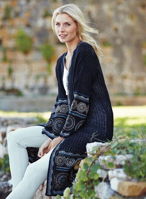 Irish crochet &: CROCHET COAT ... ПАЛЬТО
