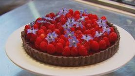Dark Chocolate Raspberry Tart With Cherry Port Jelly - Masterchef!!!