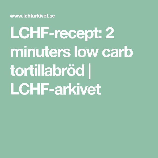 LCHF-recept: 2 minuters low carb tortillabröd | LCHF-arkivet