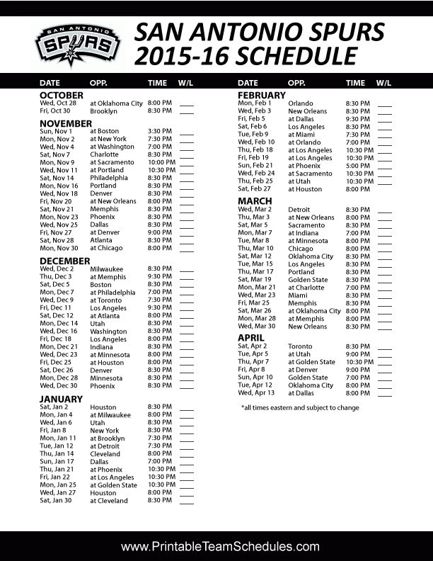 It's just a picture of Old Fashioned San Antonio Spurs Schedule Printable