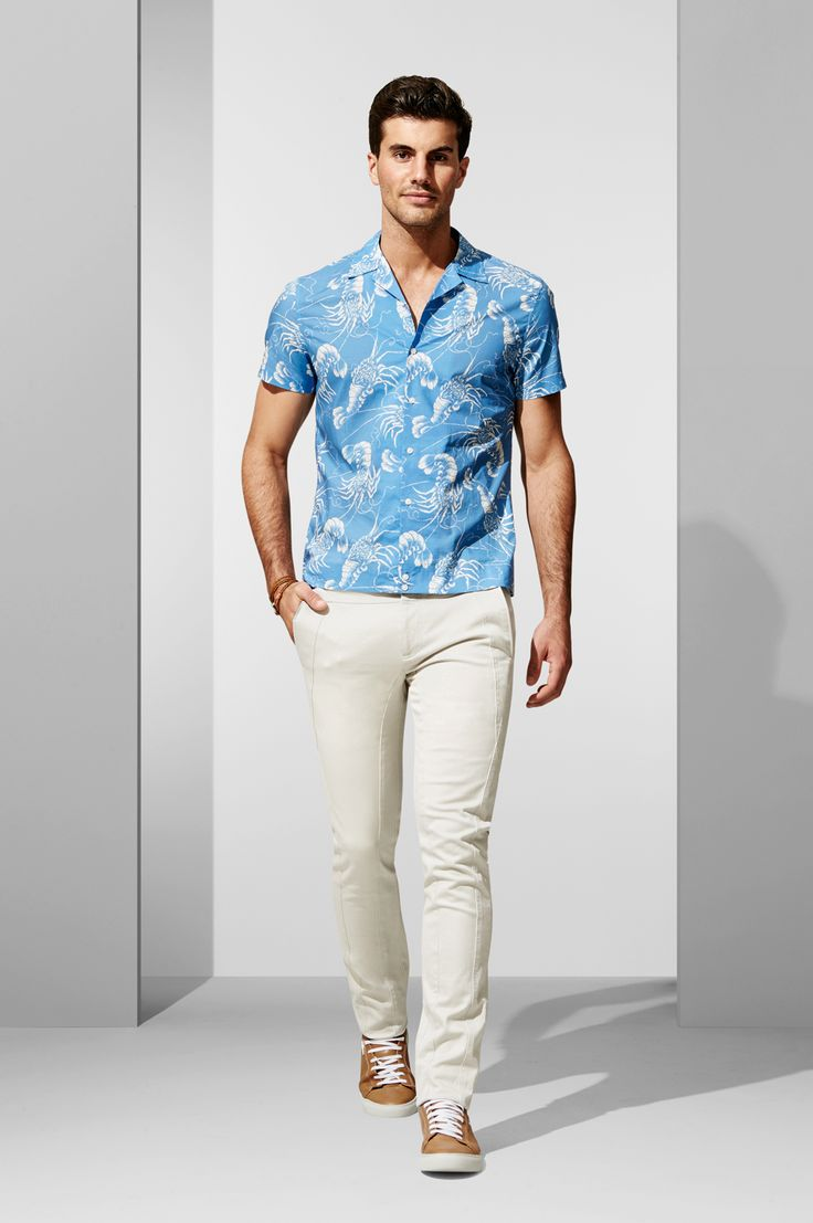 The SS Lobster Print Shirt. Shop the look at http://www.calibre.com.au/lookbook/look-375