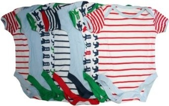 SALE!! Ex Store 7 Pack Baby Boys Cotton Bodysuits REVIEW