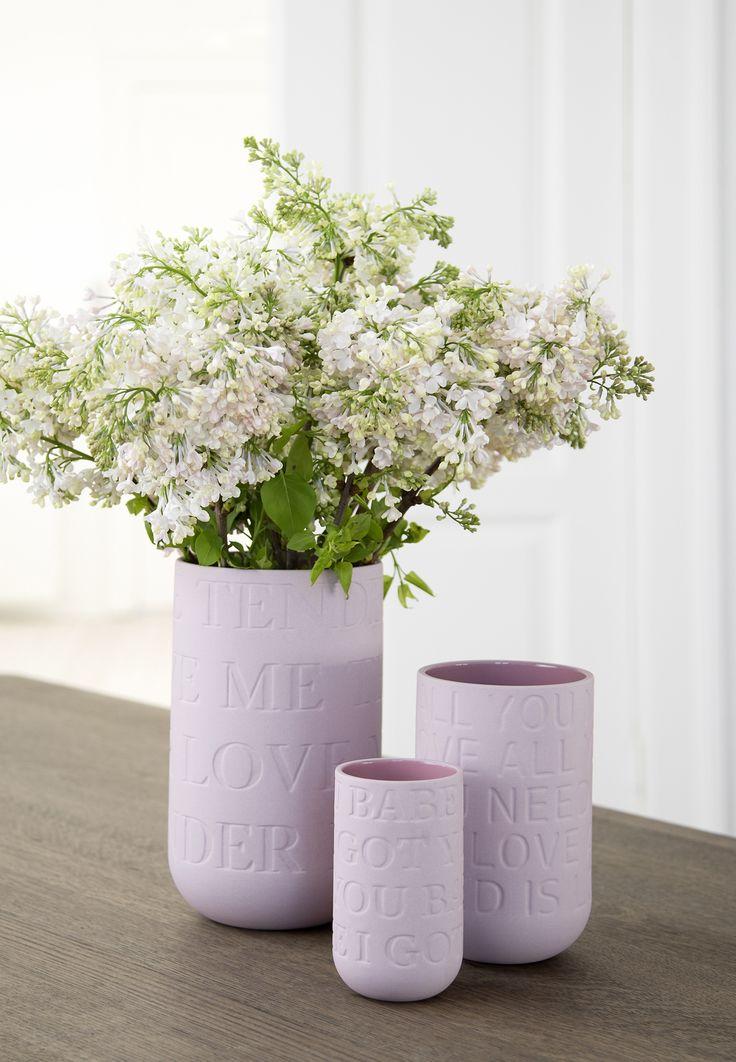 KÄHLER LOVE SONG VASE H300 PINK #inspirationdk #nyhed #danskdesign #lovesong #Kähler #pink